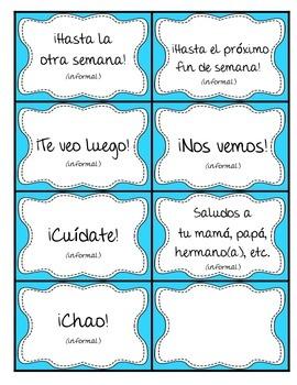 Greetings in Spanish