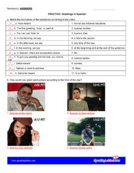 Greetings in Spanish Mini Lesson Plan (Lección Preliminar)
