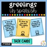 Greetings in Spanish - Task Cards