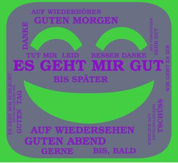 Greetings poster in german