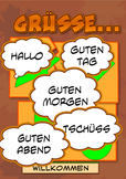 Grüsse Greetings poster in german