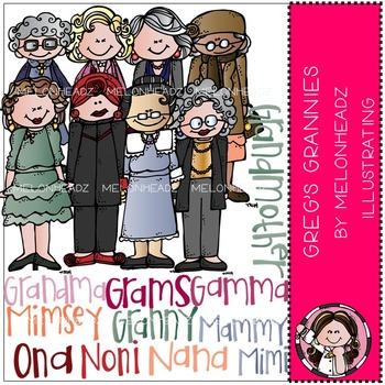 Melonheadz: Grannies clip art - COMBO PACK