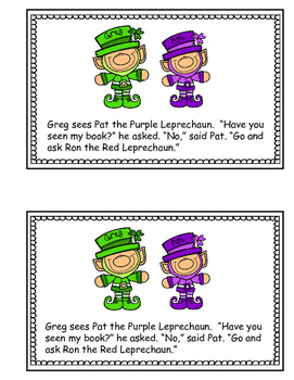 St. Patrick's Day Reader - Greg the Green Leprechaun (color words)