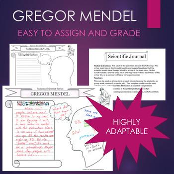 Gregor Mendel Biography Graphic Organizer Interactive Journal