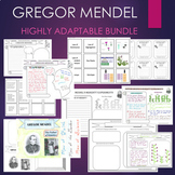 Gregor Mendel Biography Graphic Organizer Genetics Journal Research BUNDLE