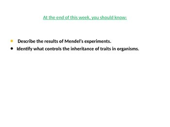 Gregor Mendel & His Experiments (Notes)
