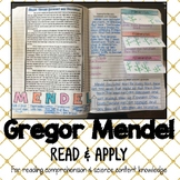 Genetics: Gregor Mendel's Findings Interactive Notebook Read and Apply