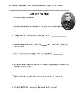 Gregor Mendel Notes