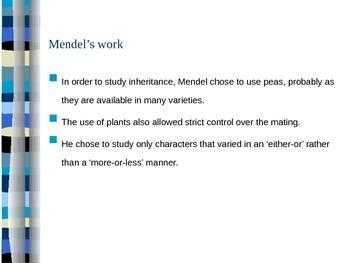 Gregor Mendel and Genetics (Presentation/Handout)