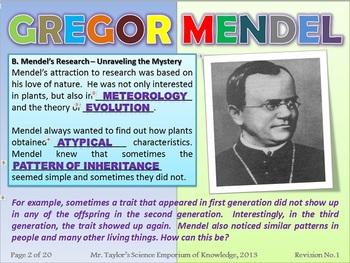 Gregor Mendel and Punnett Squares: Interactive PowerPoint