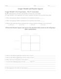 Gregor Mendel and Punnett Squares Worksheet