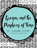 Gregor and the Prophecy of Bane Novel Study by Suzanne Collins