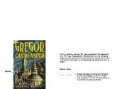 Gregor the Overlander Aniticipation Guide