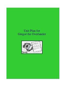 Gregor the Overlander Complete Literature and Grammar Unit