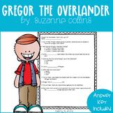 Gregor the Overlander Comprehension Quiz Checks