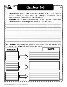 Gregor the Overlander  by Suzanne Collins - Comprehension and Vocabulary Unit