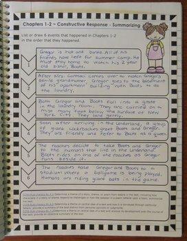Gregor the Overlander Novel Study: vocabulary, comprehension, writing, skills