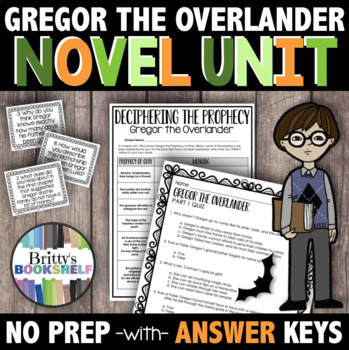 Gregor the Overlander Novel Study - A Complete Literature Unit