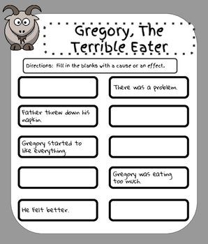 Gregory The Terrible Eater- Literature Group