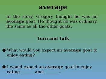 Gregory the Terrible Eater | Collaborative Conversation | Vocabulary | Text Talk