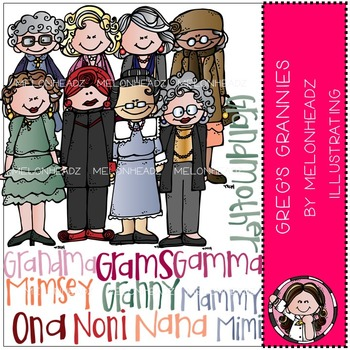 Melonheadz: Grannies clip art