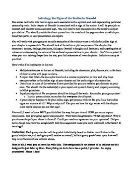 Grendel Astrology Presentation Assignment