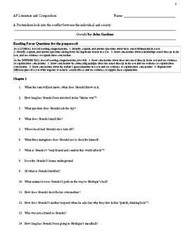 Grendel Reading Focus Questions