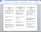 Grendel ch. 7 - 9 reading trifold