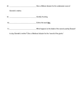 Grendel's Mother Quiz