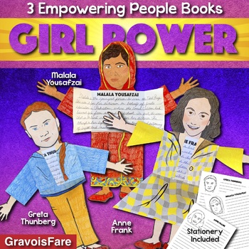 Greta Thunberg, Malala Yousafzai, Anne Frank Activities: Girl Power People Books