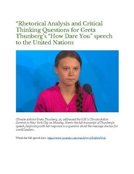 Greta Thunberg's UN Climate Change Speech: Rhetorical Analysis with Key