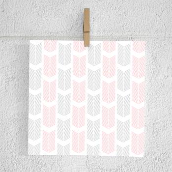 Grey And Pink Arrow Digital Paper Scrapbook Paper Printable