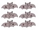Grey Bat Alphabet Letter Puzzle Game or Center Activities