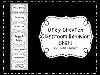 Gray Chevron Classroom Behavior Chart