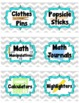 Gray Chevron Classroom Supply Labels