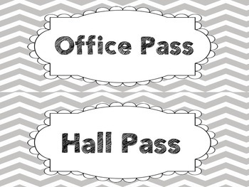 Gray Chevron Hall Passes