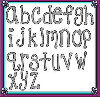 Grey Chevron Letters/Alphabet/Font