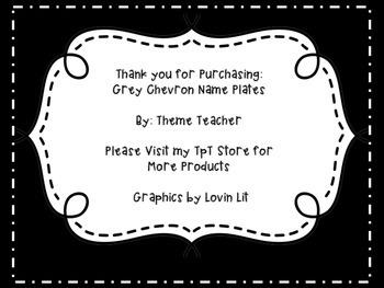 Gray Chevron Name Plates