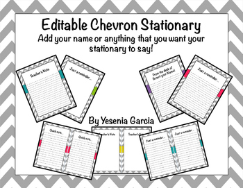 Grey Chevron Stationary (Editable)