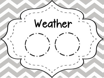 Gray Chevron Weather Report Poster