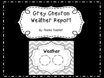 Gray Chevron Weather Report Poster