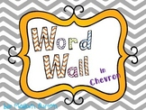 Grey Chevron Word Wall