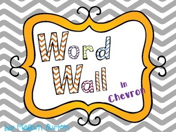 Grey Chevron Word Wall