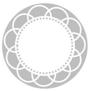 Grey Circle Label