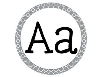 Grey Circles Word Wall