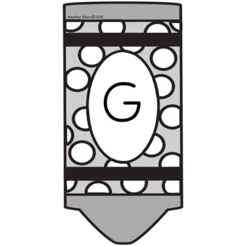 Grey Crayon Bulletin Board Letters