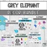 Grey Elephant Classroom Decor Bundle