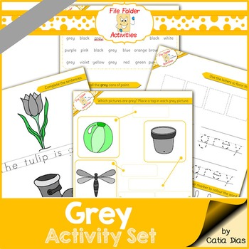 Grey - File Folder Activity Set