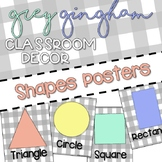 Grey Gingham Classroom Decor: SHAPE POSTERS
