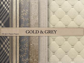 Grey & Gold Textures